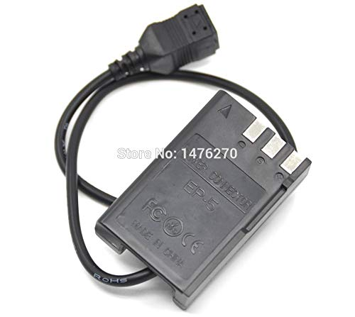 Xennos New EP 5 EP-5 DC Coupler EN-EL9 dummy battery for Nikon D40 D40X D60 D3000 D5000 Digital Cameras. - (Plug Type: Square Connector) (Nikon D40 D40x For Dummies)