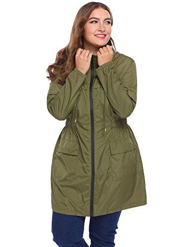 Women's Benton Springs Full-Zip Fleece Jacket Loose fit PunkCoat Long Sleeve Army Green XL