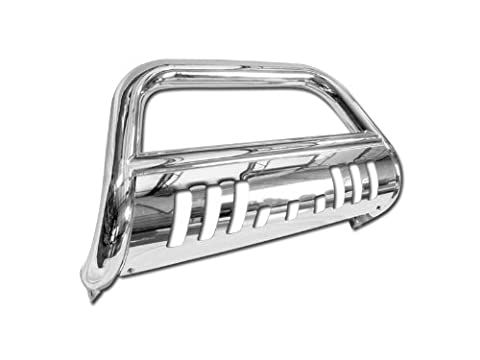 CHROME BULL BAR BRUSH PUSH BUMPER GRILL GRILLE GUARD 99-06 SILVERADO/SIERRA 1500 (06 Silverado Push Bar)