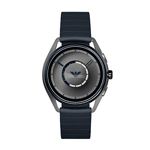 Emporio Armani Men's Stainless Steel Plated Touchscreen Smartwatch, Color: Navy (Model: ART5008) from Emporio Armani