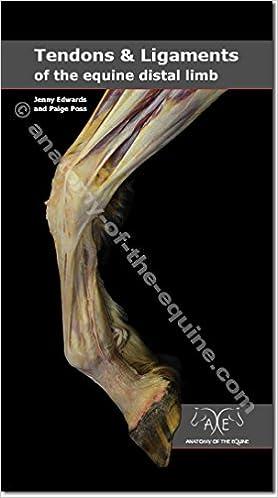 Tendons & Ligaments of the Distal Limb: Jenny Edwards, Paige Poss ...
