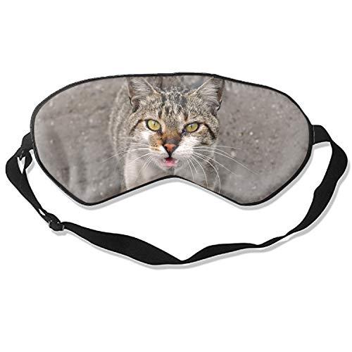 Sleep Mask Cat Comfort Deep Eye Masks Best Lightweight Night Eyeshade Blinder Travel Airplane (Cat)