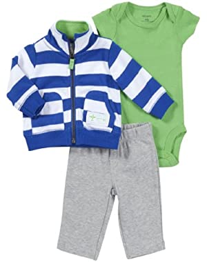 Carter's Baby Boys' 3 Piece Hooded Set (Baby)