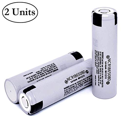 2-Pack - NCR18650BD High Drain Lithium-ion 18650 Batteries
