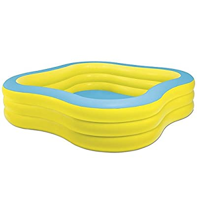 "Intex Swim Center Family Inflatable Pool, 90"" X 90"" X 22"", for Ages 6+, Color may vary 