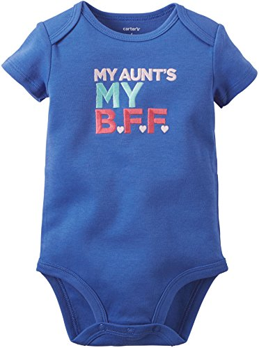 Carters Baby Girls Aunt's My BFF Bodysuit 6 Months Blue
