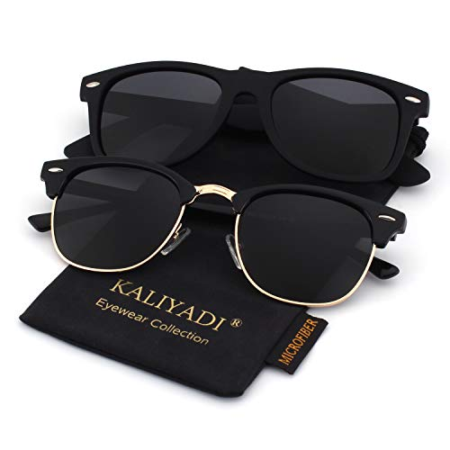 Unisex Polarized Retro Classic Trendy Stylish Sunglasses for Men Women Driving Sun glasses:100% UV Blocking ()