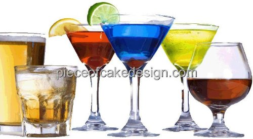 "2"" Round ~ Alcohol Variation Mixed Drinks 21st Birthday ~..."