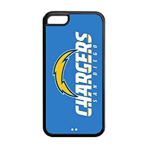 Custom San Diego Chargers NFL Series Back Cover Case for iphone 5C by runtopwell