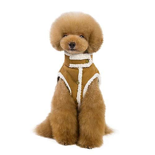 Berber Dog Coat - iBaste Pet Clothes Thickened Fleece Lined Berber Fleece Dog Jacket Vest Teddy Dog Warm Winter Coat 2 Colors