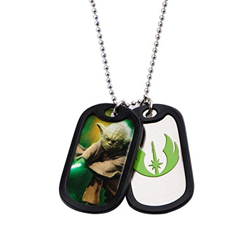 Star Wars Yoda Double Dog Tags Necklace Stainless -