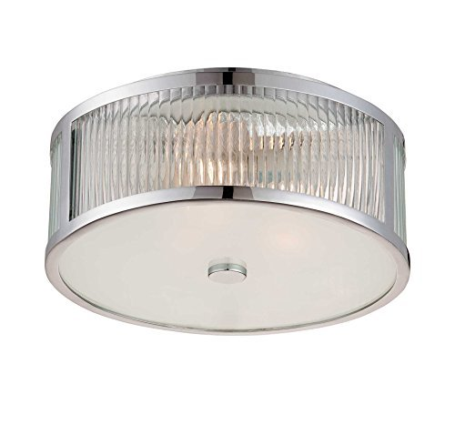 Savoy House 6-6800-15-11 Flush Mount with Clear Shades, Polished Chrome Finish by Savoy House