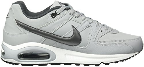 Grey white 012 black Mtlc Uomo Max Air Grigio da Dark Wolf Corsa NIKE Command Leather Scarpe Grey OS4Zxwq