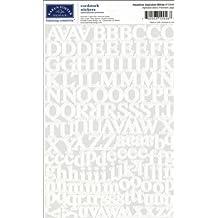 Karen Foster Design Scrapbook Headle Alphabet Stickers, White