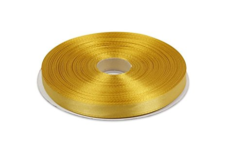 Gold. High End Thick . 1 Inch 50 Yards Roll Ribbons(71#) (Gold Ribbon Satin)