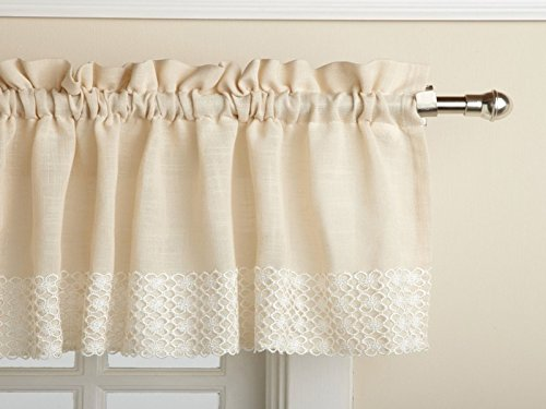 Sweet Home Collection Kitchen Curtain, Valance, Salem French Vanilla -