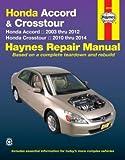 Honda Accord & Crosstour Haynes Repair Manual (2003-2012)