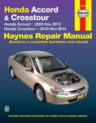 amazon com honda accord crosstour haynes repair manual 2003 2014 rh amazon com
