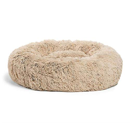 Best Friends by Sheri Calming Shag Vegan Fur Donut Cuddler (23x23) - Small Round Donut Cat and Dog Cushion Bed, Warming and Cozy for Improved Sleep - Prime, Machine Washable - Snuggle Sack Dogs