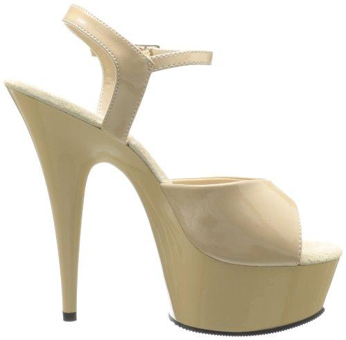 de Cream DELIGHT Cream 8441 Pleaser Sandalias 609 para vestir mujer fI6nqgUw8