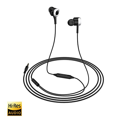 dodocool Wired Earphones Stereo Bass Earbuds in Ear Headphones with Mic, Remote Control, Noise Isolation (Black)