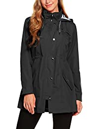 Womens Lightweight Hooded Waterproof Active Outdoor Rain Jacket S-XXL