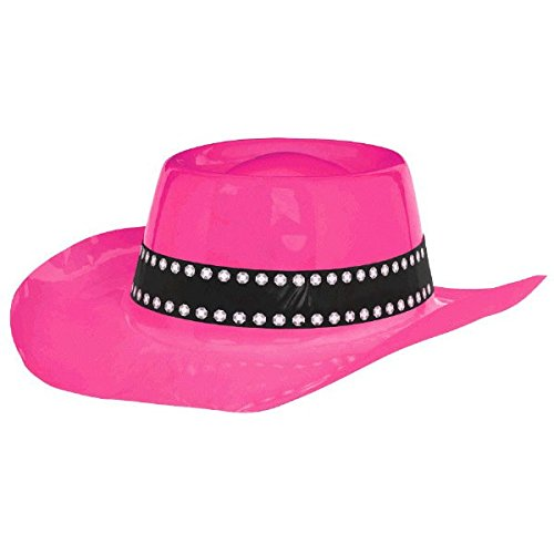 Amscan High Riding Western Party Cowboy Hat, Pink, 4.2 x (Wild West Costume Images)