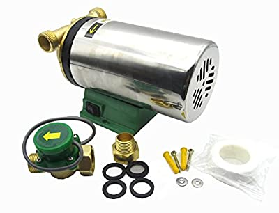 BOKYWOX Automatic Booster Pump Stainless Steel Domestic Boost Pump for Shower/Washing Machine.
