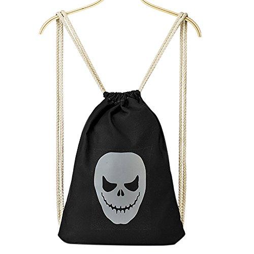 QZUnique Women's Casual Fashion Various Halloween Printed Drawstring Backpack (Louis Vuitton Halloween Costume)