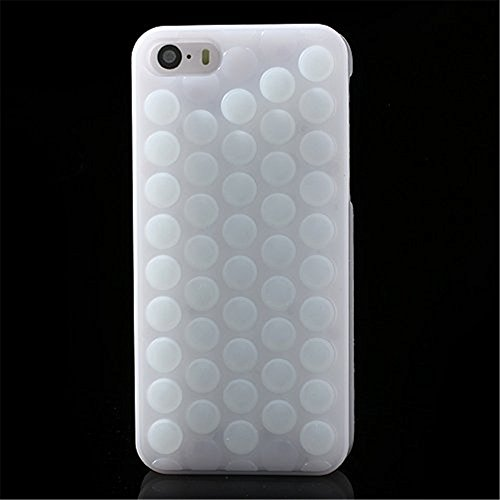 GIZEE Funny Cute Popping Decompression Bubble Wrap Back Soft Silicone Puchi Puchi Case Cover for iPhone 6 Plus & 6S Plus 5.5 Inch (Soft Back Cover)