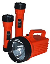 BRIGHT STAR LED 50 Lumens Orange Handheld Flashlight