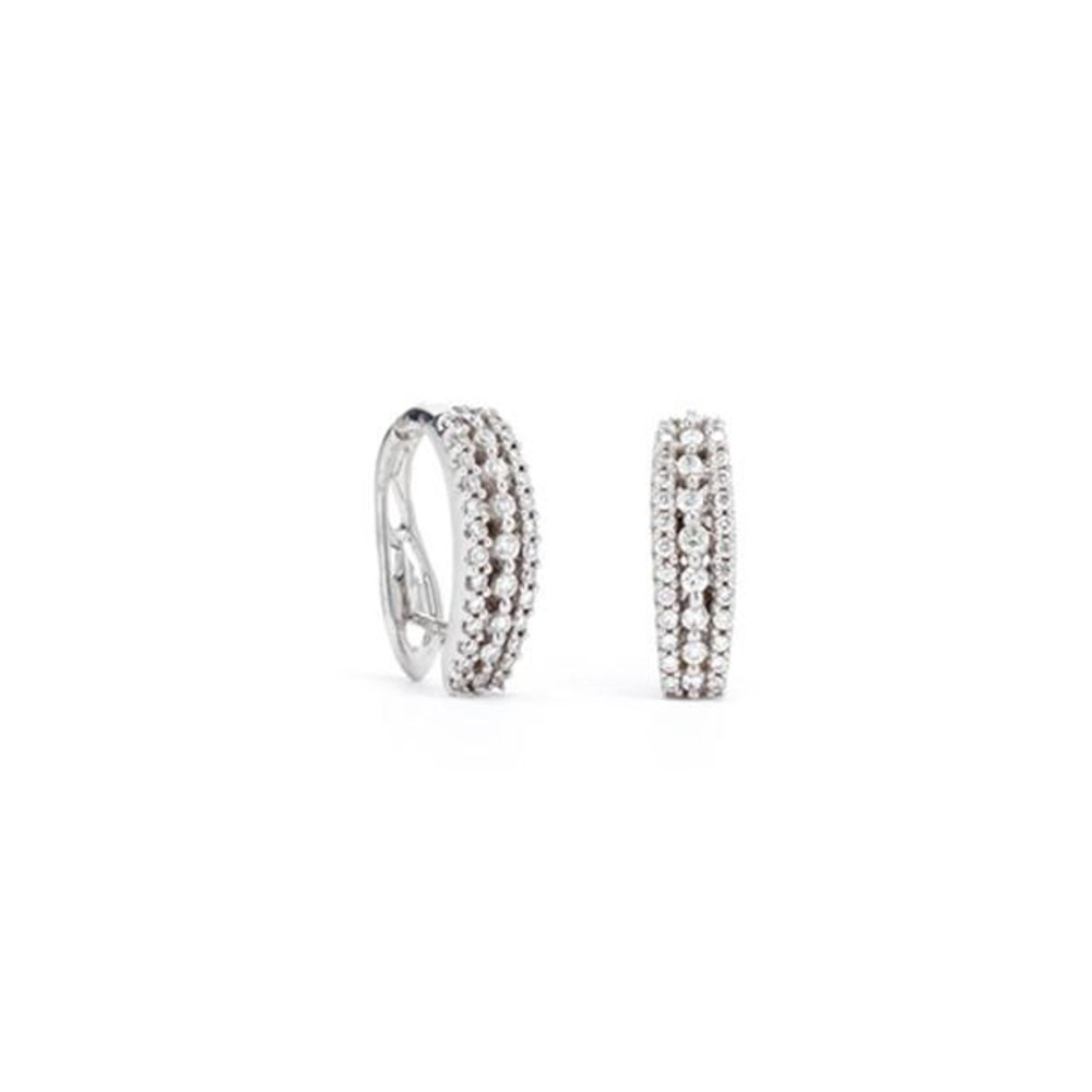 14K 0.50CTTW Diamond Hoop Earrings