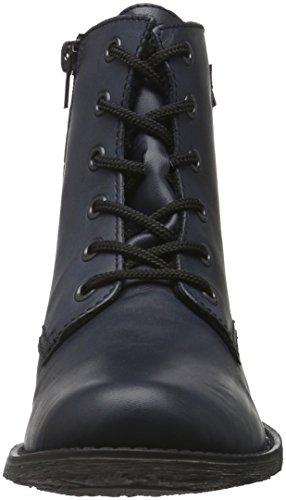 Rieker Damen 70830 Kurzschaft Stiefel Blau (ozean-matt/graphit / 16)