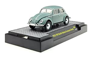 M2 Machines 1:64 1953 VW Escarabajo / Beetle deluxe modelo europeo gris/verde