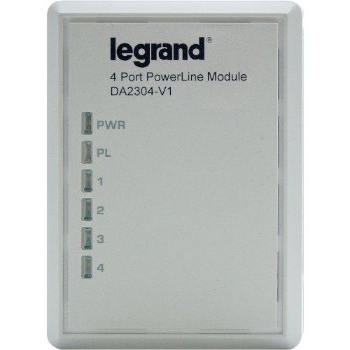 Legrand - On-Q DA2304V1 Gigabit 4Port Powerline Adapter by Legrand-On-Q