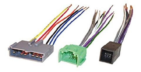 Scosche FDK10B Wire Harness to Connect An Aftermarket Stereo Receiver for Select 1988-1997 (1996 Ford Explorer Radio Harness)