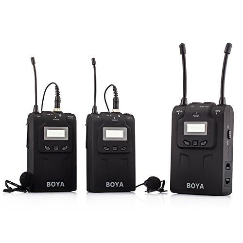 BOYA BY-WM8 UHF Dual-Channel Wireless Lavalier Microphone System for Interviews ENG/EFP DSLR Video by BOYA