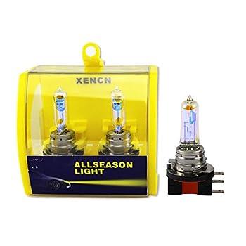 Xencn Car Head Bulbs H15 12v 15/55w 2300k Super Yellow Daytime Running Lights 2pcs