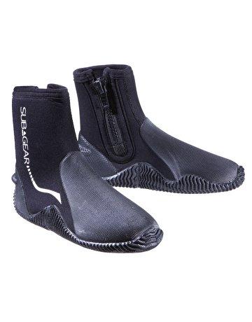 Subgear Pro Zip - Botas de buceo, color negro, talla 8