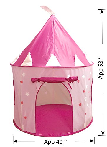 suesport girls princess castle play tent pink import it all. Black Bedroom Furniture Sets. Home Design Ideas