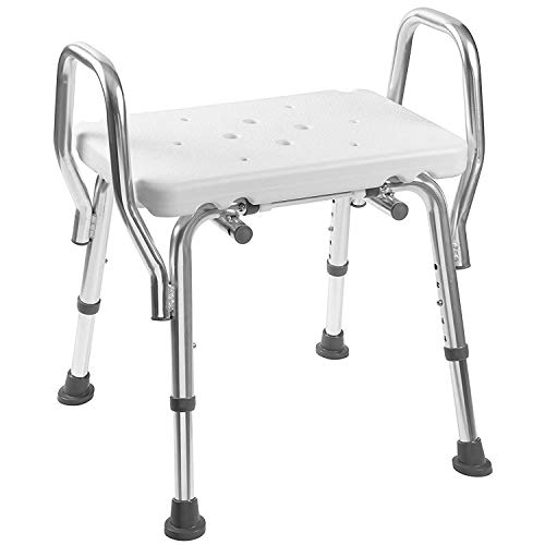 Duro-Med Medical Bath Chair, Adjustable Shower Chair with Arms, Easy No Tool Assembly, White from Duro-Med
