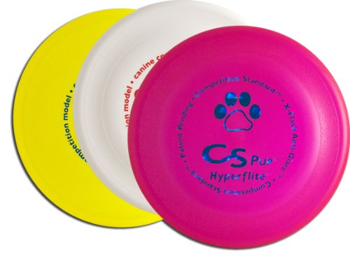 Hyperflite K-10 Pup Competition Standard Dog Disc Three Pack - Assorted Colors