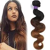 Cranberry Hair Ombre Brazilian Virgin Hair Body Wave Hair Weave 12inch Bundle Three Tone Color Human Hair Weaving Blonde Hair T1B/4/30