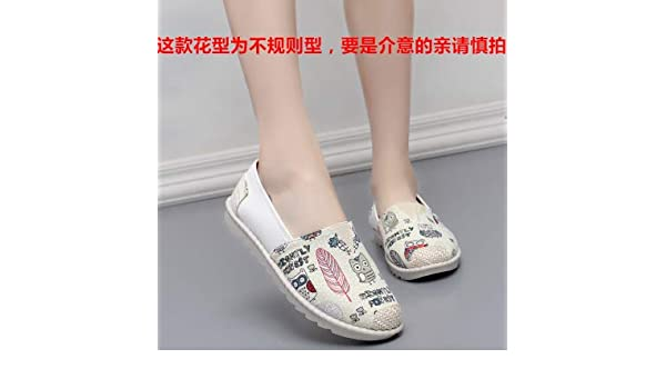Amazon.com: HuWang Women Flats Zapatillas Slip-On Boat Cane Hemp Fisherman Loafers Espadrilles Sneakers Single Animal Prints: Garden & Outdoor