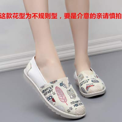 HuWang Women Flats Zapatillas Slip-On Boat Cane Hemp Fisherman Loafers Espadrilles Sneakers Single Animal