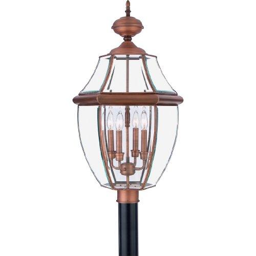 Cheap Quoizel NY9045AC  Newbury 4-Light Outdoor Lantern, Aged Copper