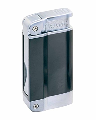 Polished Silver Colibri Lighter (Zephyr Quantum Single Torch Flame Cigar Lighter in an Attractive Gift Box Black Polished Silver)