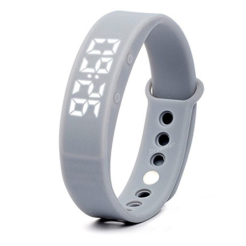 W5 Pedometer Sleep Monitor Temperature Bracelet Smart Watch(Gray) - 4