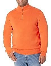 Amazon Essentials Men's 100% Cotton Quarter-Zip Sweater