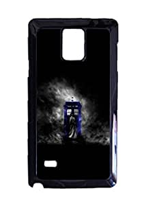 Doctor Who Movie & TV Custom Image Case, Diy Durable Hard Case Cover for Samsung Galaxy Note 4 , High Quality Plastic Case By Argelis-Sky, Black Case New